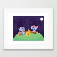 camping Framed Art Prints featuring Camping by Maria Jose Da Luz