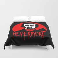 poe Duvet Covers featuring Nevermore - Poe by Buby87