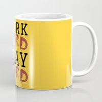 die hard Mugs featuring HARD by Free Specie