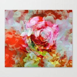 Fall Colored Rose Canvas Print