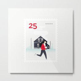 Stamp : Cities #3 - Reykjavik Metal Print