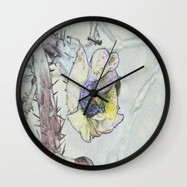 Cacti Flower Drawing Wall Clock