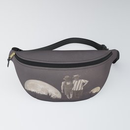Moon on a meadow vintage 1920s Fanny Pack