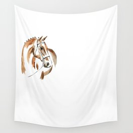 Bay Watercolour Horse Wall Tapestry
