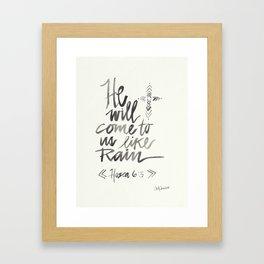 Hope for future. Framed Art Print