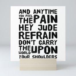Hey Jude Lyrics Mini Art Print
