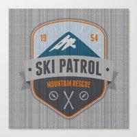 ski Canvas Prints featuring Ski Patrol by Nezz