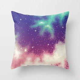 Rainbow Nebula (8bit) Throw Pillow