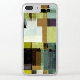 modern mid century, Geometric art, contemporary art, Scandinavian art, retro art, poster print, fami Clear iPhone Case