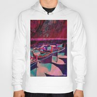boats Hoodies featuring vintage boats by  Agostino Lo Coco
