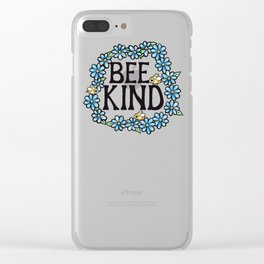 Bee Kind Clear iPhone Case