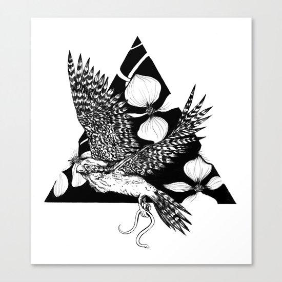 Falcon Spirit Animal Canvas Print