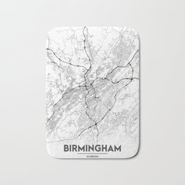 Minimal City Maps - Map Of Birmingham, Alabama, United States Bath Mat