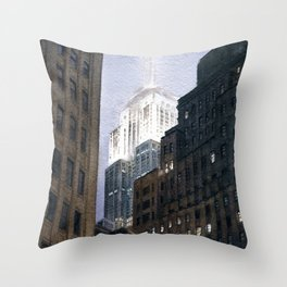 Manhattan Fog Throw Pillow