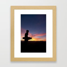 Longboard Silhouette Framed Art Print