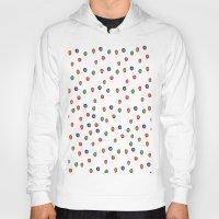 polka dots Hoodies featuring Polka Dots  by BriannaCamp