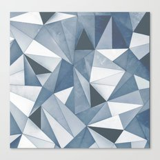 Try Angles Blue Canvas Print
