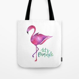 Let's Flamingle! —Version 1 Tote Bag