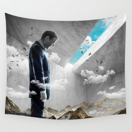Concrete Landscape Wall Tapestry