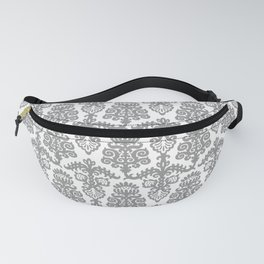 Floral Pattern Gray Fanny Pack