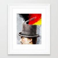 german Framed Art Prints featuring German by Francesca Cosanti