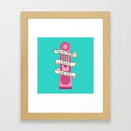 Dream phone Framed Art Print