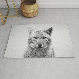 Coyote - Black & White Rug