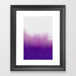 Ultraviolet Splash Framed Art Print