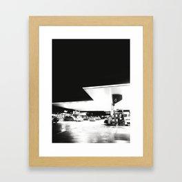 Petrol and Night Framed Art Print