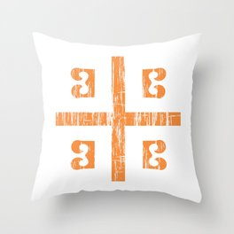 Byzantine Cross Throw Pillow