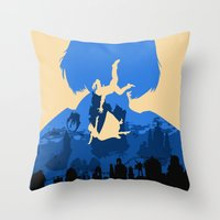 bioshock infinite Throw Pillows featuring Bioshock Infinite Elizabeth by Bill Pyle