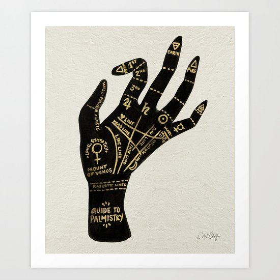 Palmistry Art Print by Cat Coquillette | Society6