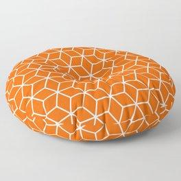 Unapologetic Orange in Cubes Floor Pillow