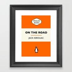 Penguin Book / On The Road - Jack Kerouac  Framed Art Print