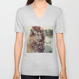 """PHOENIX AND THE FLOWER GIRL """"photo synth thesis"""" PRINT Unisex V-Neck"""