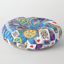 RED QUEEN OF HEARTS MUSIC BOX CARD GAMES Floor Pillow