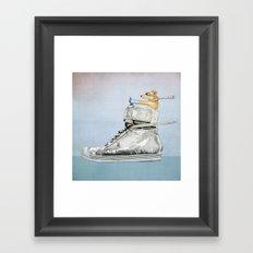 Dog Driving a Shoe Framed Art Print