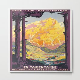 Vintage poster - En Tarentaise, France Metal Print