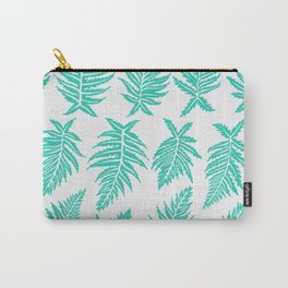 Inked Ferns – Turquoise Palette Carry-All Pouch
