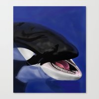 killer whale Canvas Prints featuring Killer Whale by TMootrey
