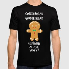 Gingerbread MEDIUM Mens Fitted Tee Black