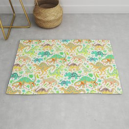 Happy Dinos - citrus colors Rug