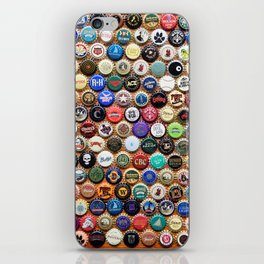 Beer and Ale Bottle Caps iPhone Skin