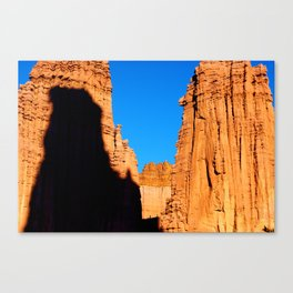 Fisher Towers with climbers, Utah Canvas Print