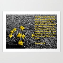 Isaiah 45 Art Print