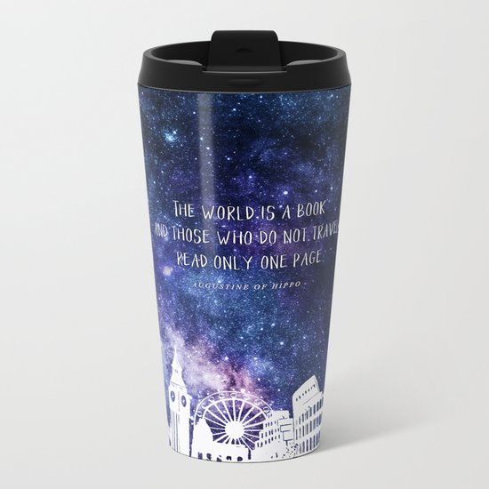 The world is a book Metal Travel Mug