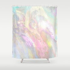 Pastel Iridescent Shower Curtain