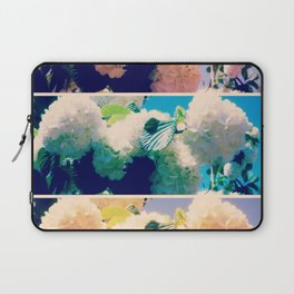 Washed Out Snowball Branch Collage (IV) Laptop Sleeve