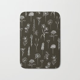 Patagonian wildflowers Bath Mat