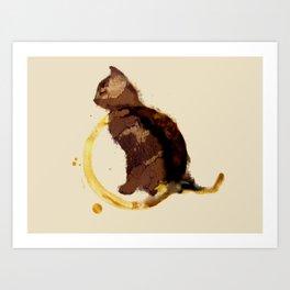 Coffy cat Art Print